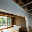 Omoya -入母屋造の民家の改修-の写真 リビング