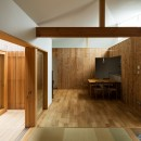 Hanare -立体的な屋根形状の家-の写真 ダイニング