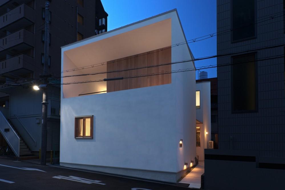 Daidou no ie -トップライトの家- (夜景 外観)