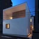 Daidou no ie -トップライトの家-の写真 夜景 外観