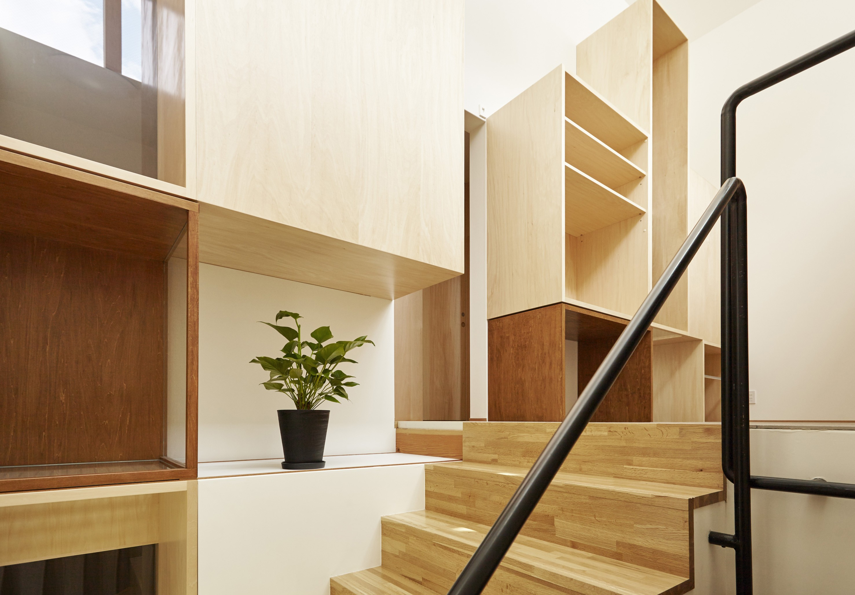 その他事例:階段(Daidou no ie -トップライトの家-)
