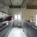 制限を活かしての写真 回遊できるⅡ型キッチン