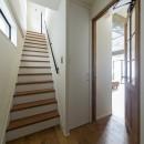制限を活かしての写真 戸建の階段部分