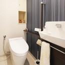 35cmが生む洗面脱衣室の快適性~寒冷地の洗濯物事情~の写真 トイレ