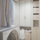 35cmが生む洗面脱衣室の快適性~寒冷地の洗濯物事情~の写真 脱衣所