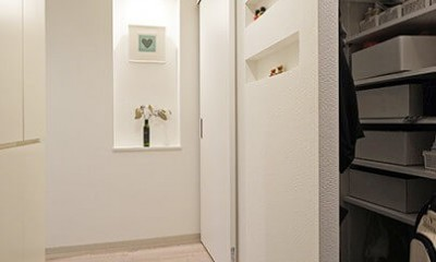 35cmが生む洗面脱衣室の快適性~寒冷地の洗濯物事情~ (玄関)