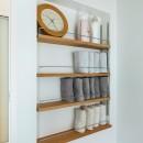 揖斐郡 S様邸|rapportの写真 脱衣室の壁面収納