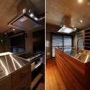 マンションリノベーションの写真 造作オリジナルキッチン