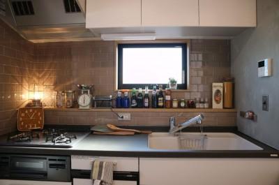 キッチン/オリジナルカウンター (趣味と、アメリカンファニチャーから始まる家づくり。)