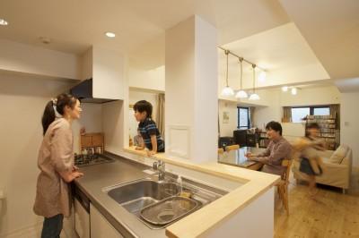 桜とパインと家族と。 (キッチン)