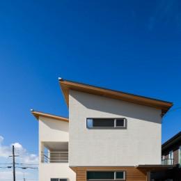 2つのリビングの家 (外観)