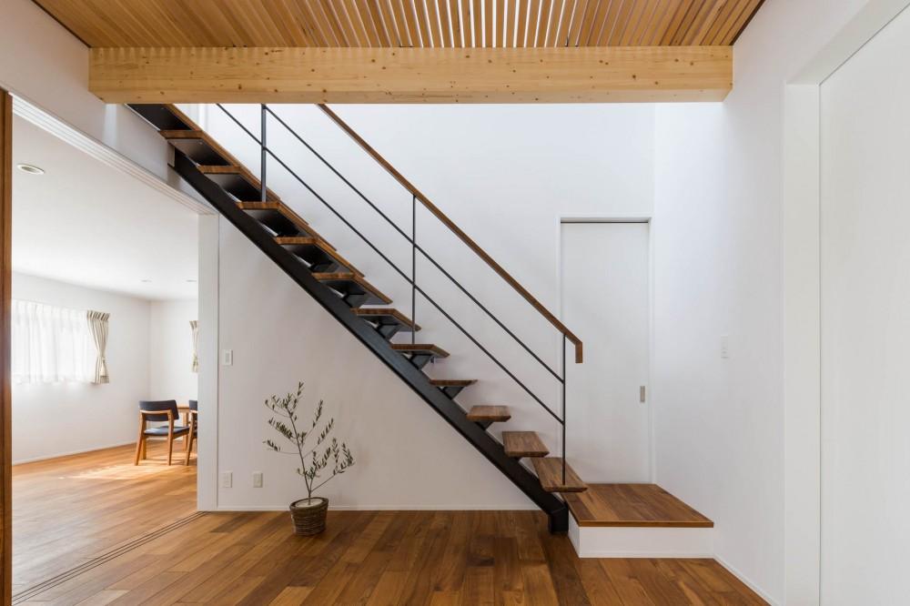 2つのリビングの家 (階段)