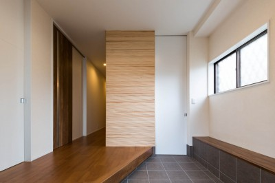 玄関 (段々天井の家)