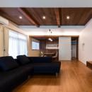 段々天井の家の写真 LDK