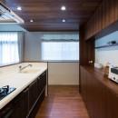 段々天井の家の写真 キッチン