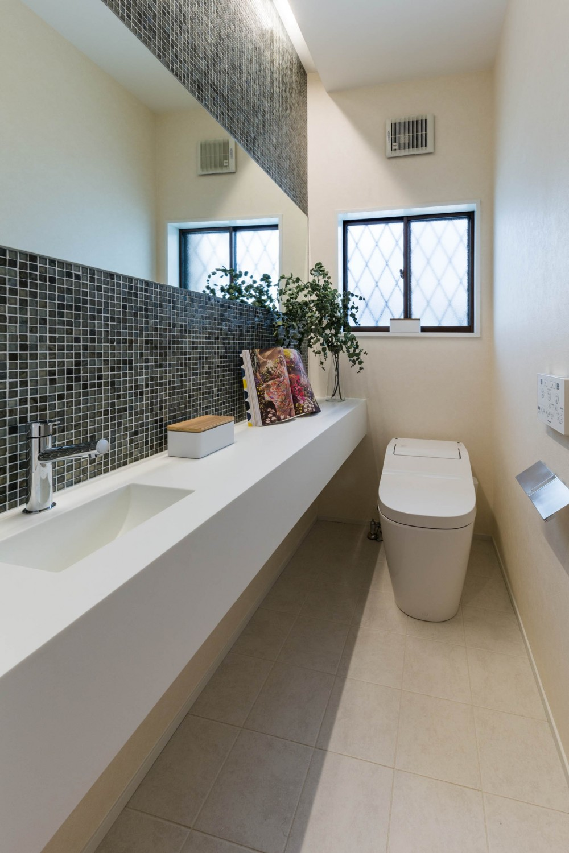 段々天井の家 (トイレ)