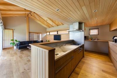 登り梁の家 (キッチン)