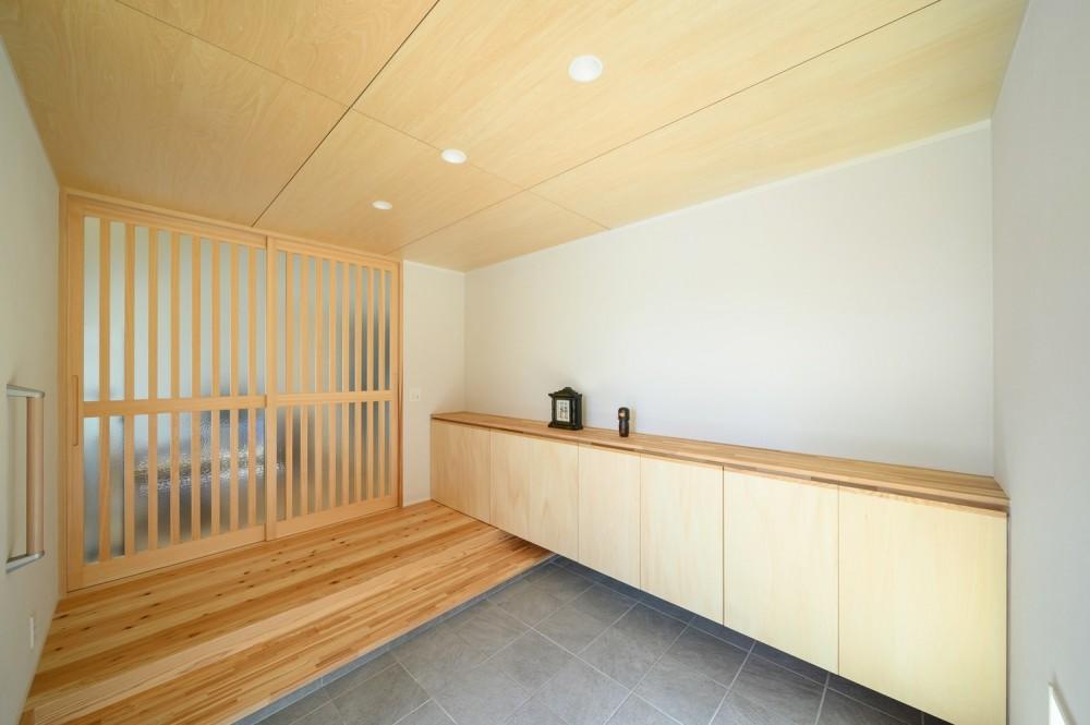 矩形の平屋 (玄関土間)