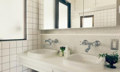 コンパクトなダブルボールの洗面室|リノベーション / skra