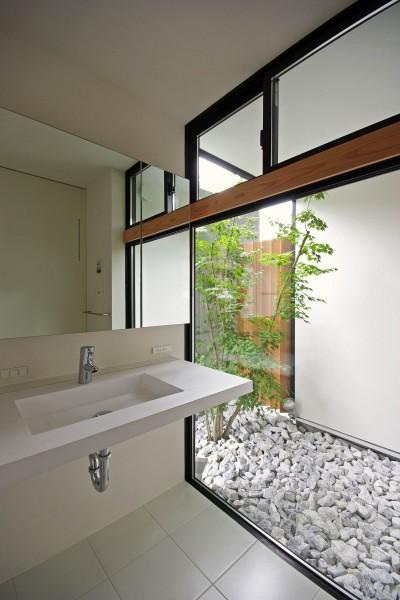 洗面脱衣室 (石巻の家-ishimaki)