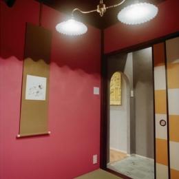 リノベーション / lattice (茶室/タイル貼りの前室)