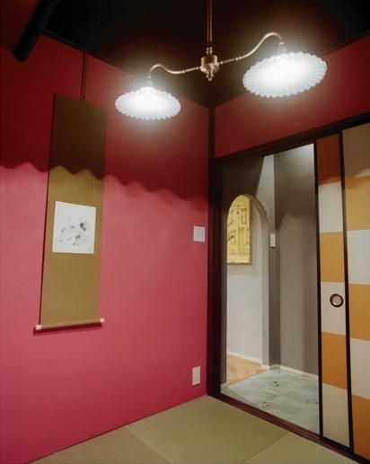 リノベーション / latticeの部屋 茶室/タイル貼りの前室