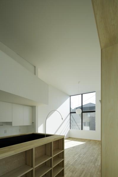 戸塚の家 (階段廻りの収納棚)