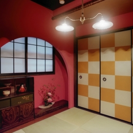 リノベーション / lattice (茶室/アーチ垂壁)