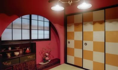 茶室/アーチ垂壁|リノベーション / lattice