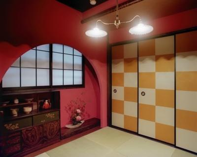 茶室/アーチ垂壁 (リノベーション / lattice)