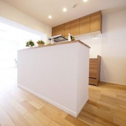 収納&間仕切りの造作キッチンカウンター (カウンター)