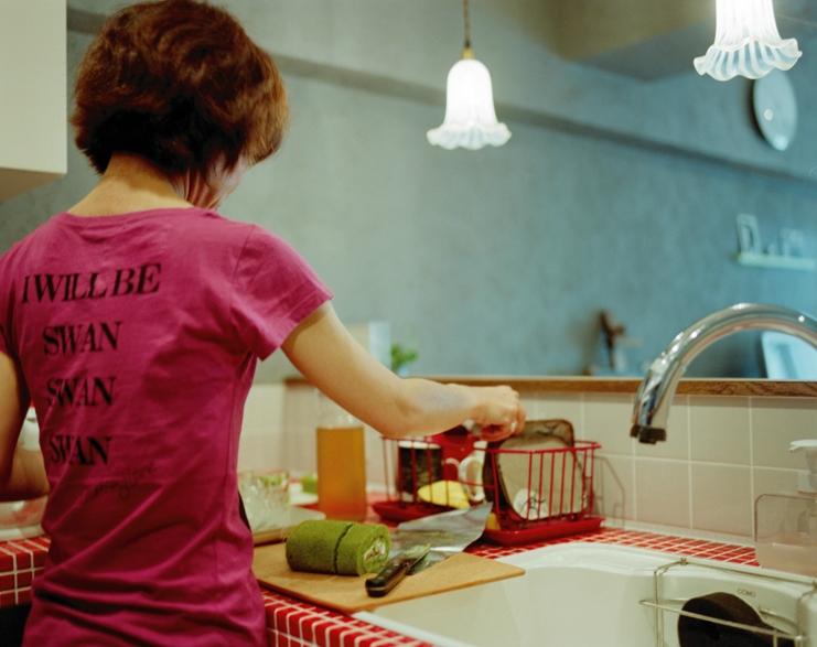 リノベーション / latticeの部屋 赤いモザイクタイルキッチン