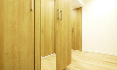 収納&間仕切りの造作キッチンカウンター (玄関)