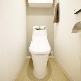 収納&間仕切りの造作キッチンカウンター (トイレ)