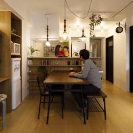 T邸-新しくするだけではない、リノベーションで暮らしやすさを実現 (リビング)