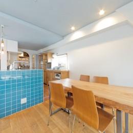 大阪府Kさん邸:水回りを移動し、スキップフロアの広々LDKに