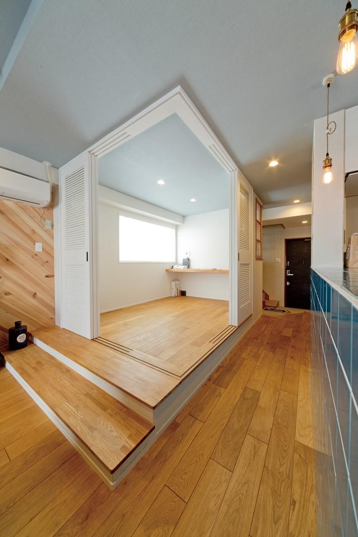 大阪府Kさん邸:水回りを移動し、スキップフロアの広々LDKに (スキップフロア)