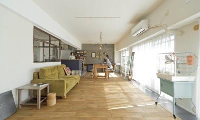 大阪府Kさん邸:日当たりと眺望を楽しめる広々したLDK