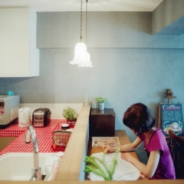 リノベーション / lattice-キッチンとカウンタースペース