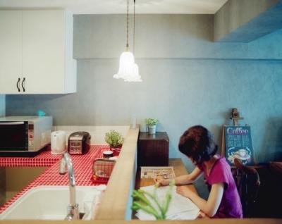 リノベーション / lattice (キッチンとカウンタースペース)