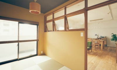 リノベーション / Bee (室内窓が結ぶ和室とLDK)
