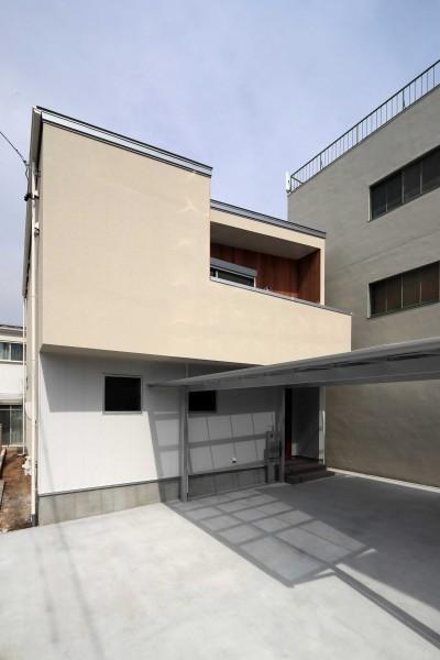 外壁 (収納に工夫をもたらせた家)