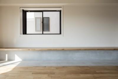 新築派がつくるリノベーション|新築主義の奥様のためにつくる上質な住まい (ベンチスペース)