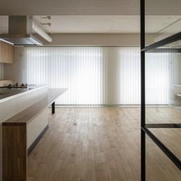 新築派がつくるリノベーション|新築主義の奥様のためにつくる上質な住まい (廊下〜LDK)