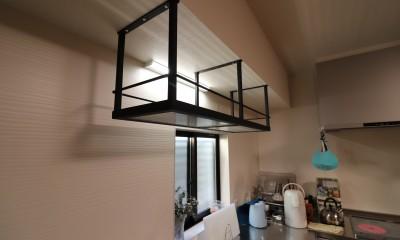 アイアン吊り棚|H様邸~ダイニングキッチン リノベーション~