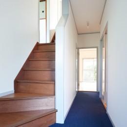 住環境豊かなテラスハウスリノベーション (廊下・階段)