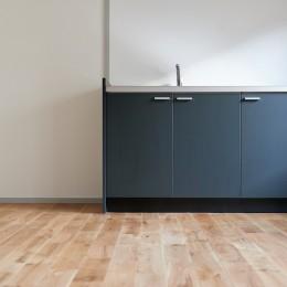 住環境豊かなテラスハウスリノベーション (キッチン)
