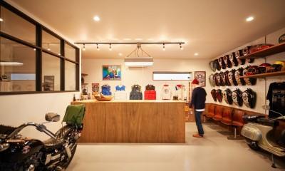 バイク好きが集まるガレージハウス