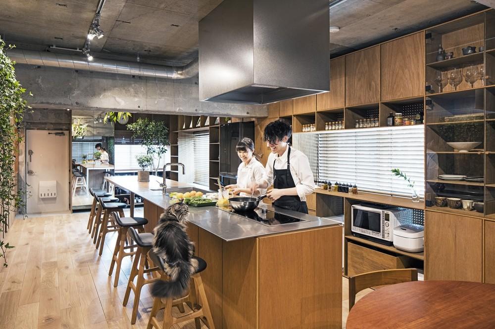 LDK 1 (料理教室スタジオであり、職場であり住居。|おもてなしユニットが作るSOHO)
