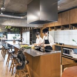 料理教室スタジオであり、職場であり住居。|おもてなしユニットが作るSOHO (LDK 1)